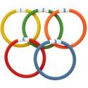 Juego 5 anillas buceo flexibles
