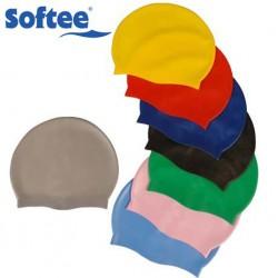 Gorro natación silicona softee JUNIOR, colores variados